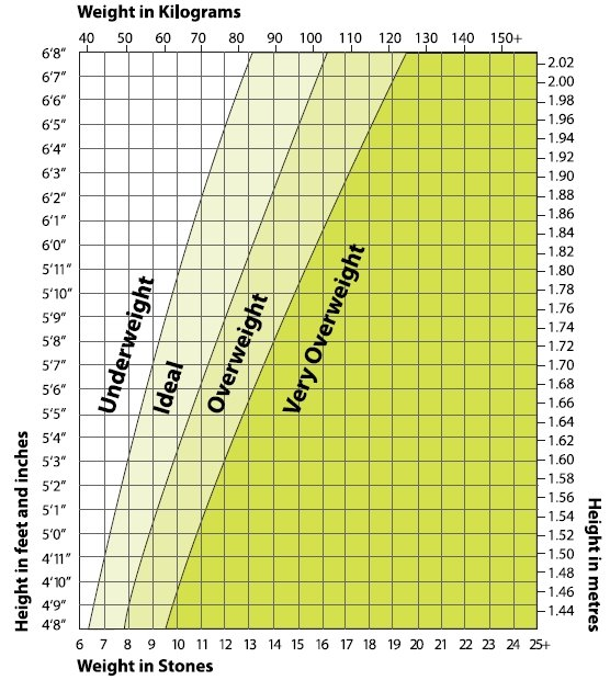 Ideal Weight Chart Feel Great 24